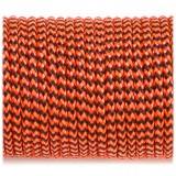 Paracord 100, orange black wave #377-2