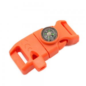 """5/8"""", оранжевый, фастекс с компасом, свистком и огнивом"""
