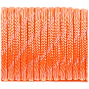 Паракорд. Paracord Type III 550, reflective (светоотражающий) sofit orange  #r3345