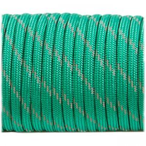 Паракорд. Paracord Type III 550, reflective (светоотражающий) emerald green #r3086
