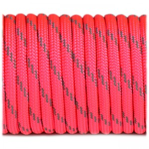 Paracord reflective, sofit pink #r3315