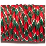 Paracord 550, red green camo #042