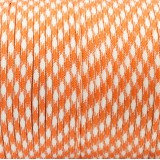 Paracord 550, orange white camo #046