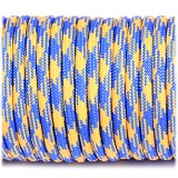 Паракорд. Paracord Type III 550, blue&yellow #212