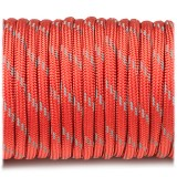 Паракорд. Paracord Type III 550, reflective X3 (светоотражающий) red #r3021