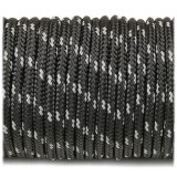 Paracord 275 (2,2mm), reflective X2 black r2016-2 (светоотражающий)