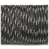 Paracord 275 (2,2mm), reflective X3 black r3016-2 (светоотражающий)