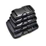 """1"""", черный, фастекс пластиковый под ременную ленту 25 мм"""