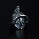 """Бусина """"Шлем Гладиатора"""", ручное литье с серебряным покрытием"""