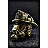 """Бусина """"Шлем пожарного"""", ручное литье"""