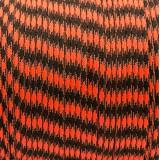 Паракорд 550, safety orange black camo #412