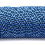 Coreless Paracord, blue snake #268-H, (полый шнур)