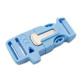 """5/8"""", голубой, со свистком и огнивом, ровный, фастекс пластиковый"""