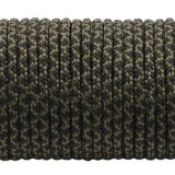 Minicord. Paracord 100 Type I (1.9 mm), black snake #308-type1