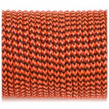 Minicord. Paracord 100 Type I (1.9 mm), orange black wave #377-type1