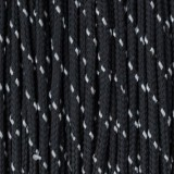 Minicord Reflective. Paracord 100 Type I (1.9 mm), black #R1016-type1