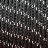 Minicord Reflective. Paracord 100 Type I (1.9 mm), black #R2016-type1