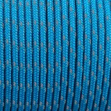 Minicord Reflective. Paracord 100 Type I (1.9 mm), blue  #R2050-type1