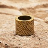 Бусина Rondelle цилиндр, ручное литье