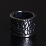 Бусина Rondelle Камень, ручное литье с серебряным покрытием (гальваника)