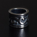 Бусина Rondelle Тибетская, ручное литье с серебряным покрытием (гальваника)
