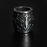 Бусина Rondelle скандинавская, ручное литье с серебряным покрытием (гальваника)