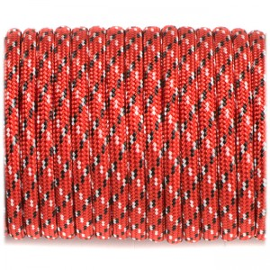 Паракорд. Paracord Type III 550, red with black x #177
