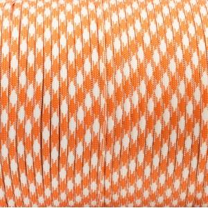 Paracord 550, orange white camo #046
