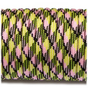 Паракорд. Paracord Type III 550, fluor green pink #054
