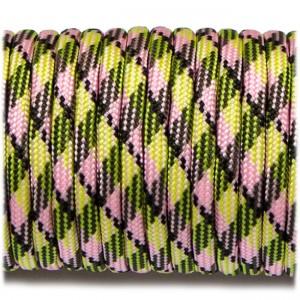 Паракорд 550, fluor green pink #054