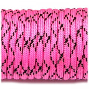 Паракорд. Paracord Type III 550, bright pink camo #057
