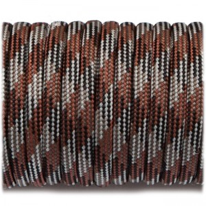 Паракорд. Paracord Type III 550, brown camo #062