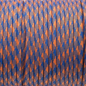 Paracord 550, blue orange camo #124