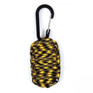 Набор для выживания из паракорда, gold & black camo #252