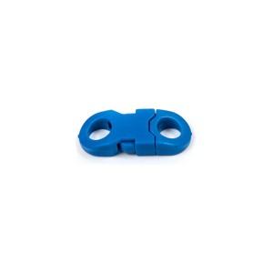 Закругленный, синий, фастекс пластиковый