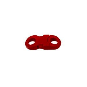 Закругленный, красный, фастекс пластиковый