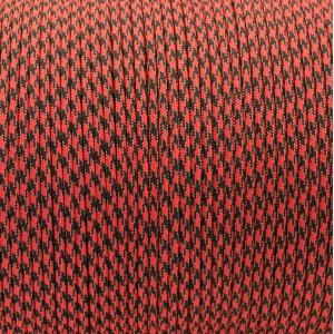 Paracord 550, red black camo #031