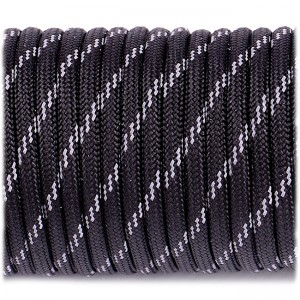 Паракорд. Paracord Type III 550, reflective X3 (светоотражающий) black #r3016