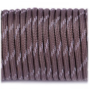 Паракорд. Paracord Type III 550, reflective X3 (светоотражающий) gun grey #r305