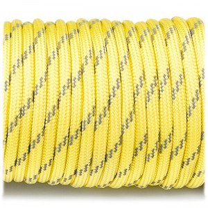 Paracord 550, reflective X3 yellow #r3019 (светоотражающий)