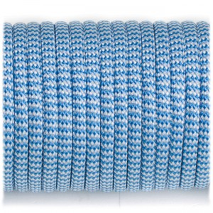 Paracord 550, blue white wave #131