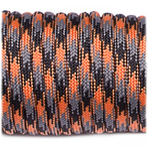 Паракорд. Paracord Type III 550, orange blaze camo #158