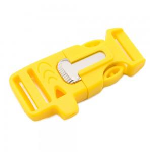 """5/8"""", желтый, со свистком и огнивом, ровный, фастекс пластиковый"""