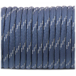 Паракорд. Paracord Type III 550, reflective (светоотражающий) navy blue #r3038