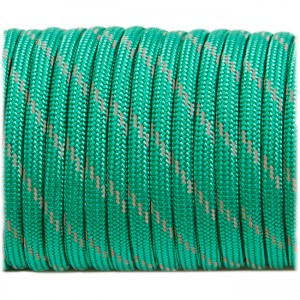 Паракорд. Paracord Type III 550, reflective (светоотражающий) emerald green #r3086