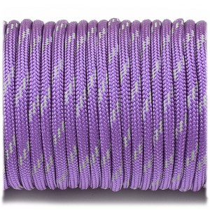 Паракорд. Paracord Type III 550, reflective (светоотражающий) purple #r3026