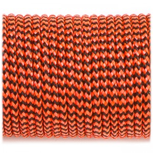 Paracord 100, orange black wave #377-2