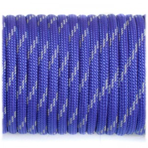 Паракорд. Paracord Type III 550, reflective (светоотражающий) royal blue #r3376