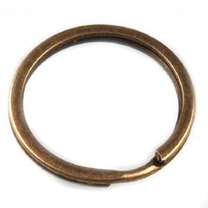Кольцо плоское для ключей, 30 мм старая латунь