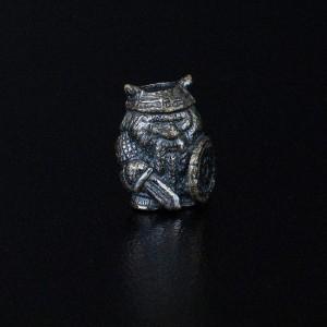 """Бусина для темляка """"Викинг"""",ручного литья с серебряным покрытием"""